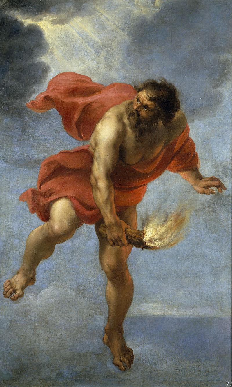 火を運ぶプロメテウス