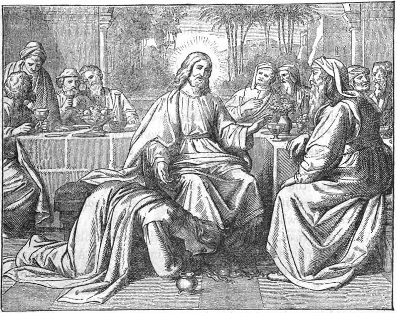 イエスの足に香油を塗る女 (作者不明)